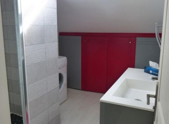 Gîte Chouzé Clématites       Salle d'eau avec douche à l'italienne