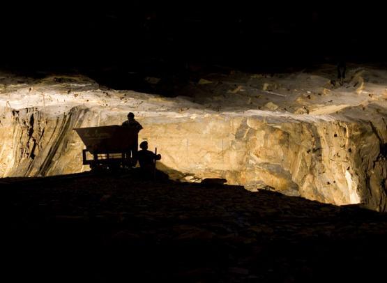 La Mine bleue - Visite guidée dans une ancienne mine d'ardoise