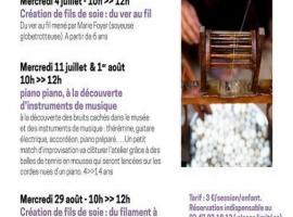 ateliers ludiques pour enfants Musée Le Carroi été 2018
