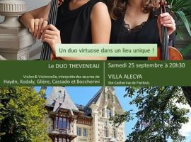 Villa Alecya - Affiche concert Duo Theveneau - 25 sept 2021